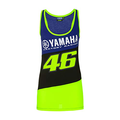 Valentino Rossi Colección Yamaha Dual Camiseta sin Mangas, Mujer, Royal Blue, S