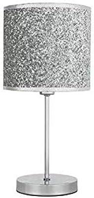 New Fabulous Sparkling Table Lamp - Silver Bedside Table Lamp Dresser Desk Lamp, Lamp for Bedroom Living Room Dorm Coffee Table