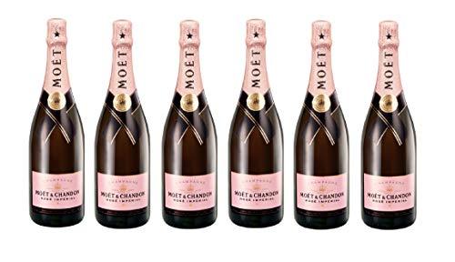 Moet & Chandon - Champagne Brut Rosé Imperial - [ 6 BOTELLAS x 750 ml ]