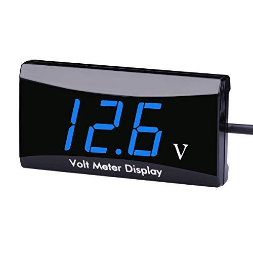 DC 12V Car Digital Voltmeter Gauge - AIMILAR LED Display Voltage Volt Meter for Car Motorcycle (Blue)