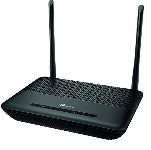 TP-Link TD-W9960v WLAN Telefonie VDSL DSL Modem Router (300 Mbit/s a 2,4GHz, VDSL-Vectoring 100Mbit/s, komp. mit Telekom/1&1/Vodafone/O2, DECT Basis und Mediaserver, nur für Deutschland)schwarz