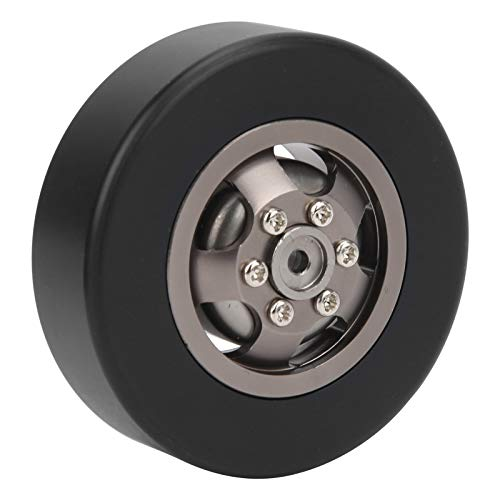 Bnineteenteam Neumáticos de Coche RC, 4 Piezas 54 mm 1/10 RC Llantas de Rueda de Metal para Coche Neumáticos para WPL D12 1/10 RC Modelo de Coche(Titán T)