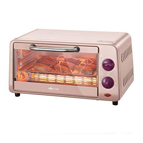 JCOCO Four Domestique Mini 10L avec réglage de la température 0-230°C et 0-30min Temps de Cuisson Four Multifonction à Double vitrage 800W