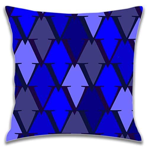 ETXHU Couvre-lit Taie d'oreiller Covers-pt Housses de Coussin 45,7 x 45,7 cm extérieur carré Taies d'oreiller pour canapé et lit, Polyester, V Design2, Taille Unique