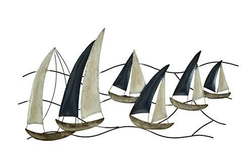 Klp Wanddeko Schiff Metall Segelboot Segel Boot Maritim Deko Hänger Skulptur Figur