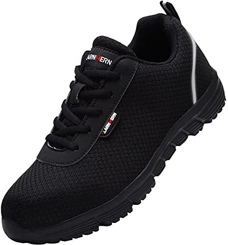 LARNMERN Zapatos de Seguridad Hombre Ligeros Comodos Zapatillas de Trabajo Punta de...