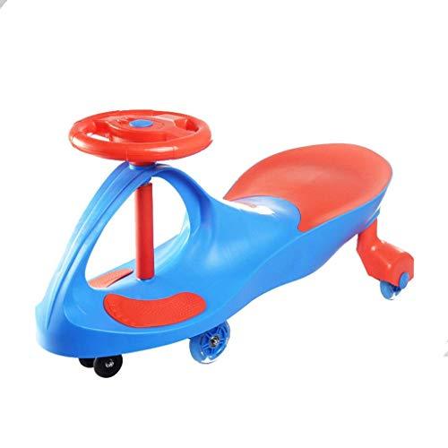 CAIMEI Coche giratorio para niños, juguete para niños (color: verde), azul