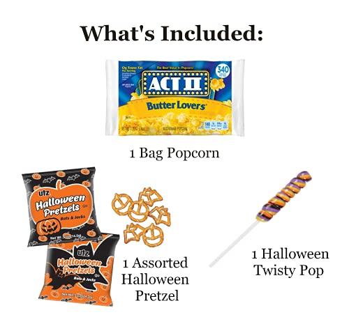 Halloween Movie Night Gift Basket - Halloween Candy Basket Gift - With Delicious Candy Plus Free Redbox Movie Rental - Excellent Halloween Kid Gifts (Pumpkin)