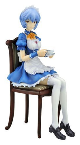 Neon Genesis Evangelion Rei Ayanami Maid Ver. (1 / 7 scale PVC pre-painted finished goods)