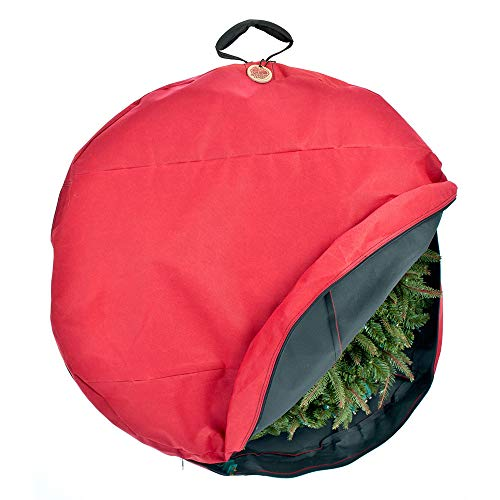 Santa's Bags [30 Inch Wreath Storage Container] - for Christmas Wreath up to 30 Inches in Diameter   Bag Hooks Directly to Your Wire Wreath Frames to Prevent Sagging and Deformed Wreaths (30-Inch)