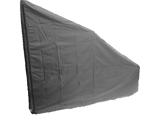 Protective Cover for Rear Drive Elliptical Machines. Heavy Duty/UV/Water Resistant Cover (Gray, Small Extra Tall)