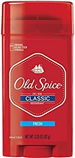 Old Spice Classic Deodorant Stick, Fresh 3.25 oz (Pack of 6)