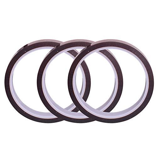3 pezzi 10 millimetri X100FT Heat Resistant tape – Nastro sublimazione pressa di calore – per trasferimento di calore in vinile, stampanti 3D ad alta temperatura nastro