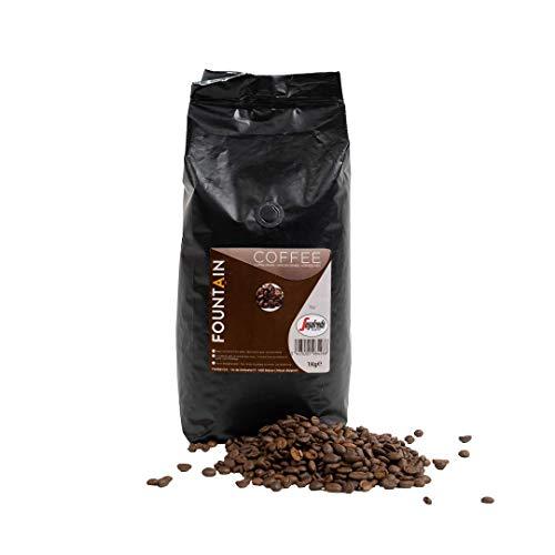 Kawa ziarnista Fountain by Segafredo 1 kg - 100% Arabika espresso nadająca się do wszystkich typów ekspresów do kawy. Intensywna kawa ziarnista z Ameryki - Ameryki Łacińskiej.