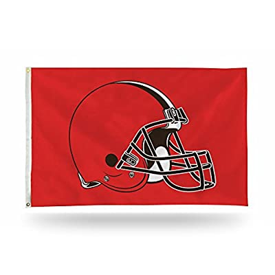 NFL Rico Industries 3-Foot by 5-Foot Single Sided Banner Flag with Grommets, Cleveland Browns