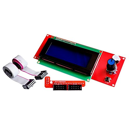 Redrex 2004 LCD Smart Display Controller Module with Adapter for 3D Printer Controller RAMPS 1.4 Arduino Mega Pololu Shield