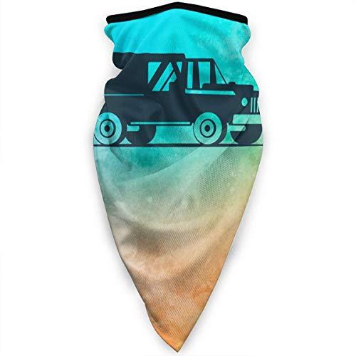 Bklzzjc Blaue Silhouette Pick Up Truck Neck Gamasche Schal Sonne UV Staubschutz Gesichtsmaske Winddichte atmungsaktive Bandana Sturmhauben