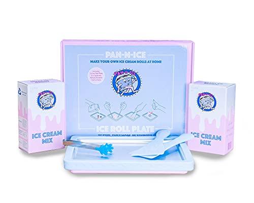 Pan-n-Ice Ice Cream Maker Starter Pack - Make Ice Cream Rolls at Home PAN N ICE