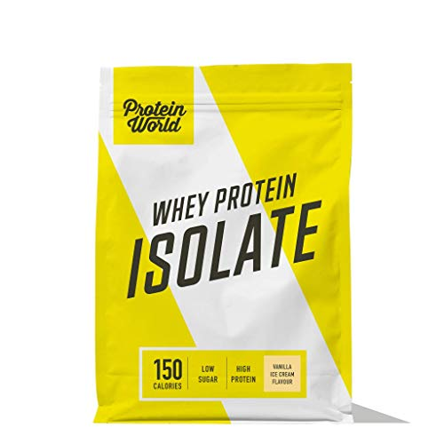 Protein World - Whey Protein Isolate - Low Sugar and Low Fat High Protein Muscle Mass Builder Milk Chocolate 1.8kg - 45 Servings