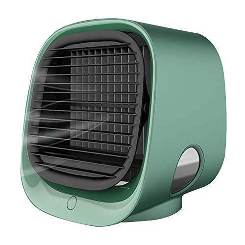 Anyutai Mini Ventilador de Aire Aire Humidificado Ventilador USB Moran Green