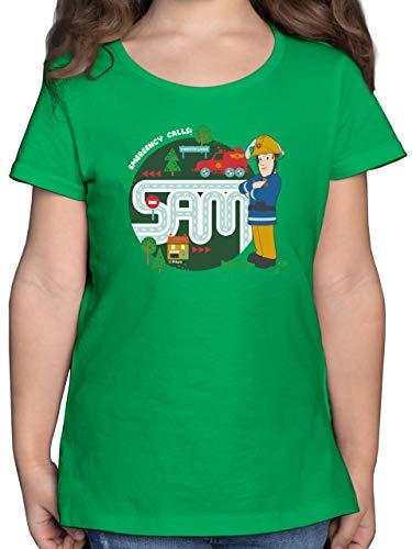 Feuerwehrmann Sam Mädchen - Emergency Calls - Sam - Venus - 152 (12/13 Jahre) - Grün - Statement - F131K - Mädchen Kinder T-Shirt