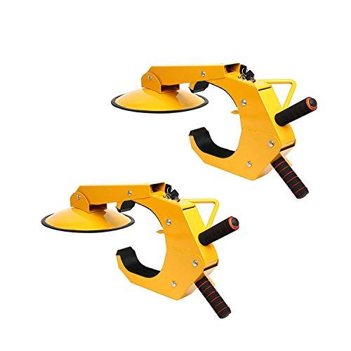 YaeTek 2pcs Wheel Lock Clamp Adjustable Tire Boot Lock Anti-Theft Lock Clamp Boot Tire Claw for Parking Car Truck RV Boat Trailer - 2 Pack