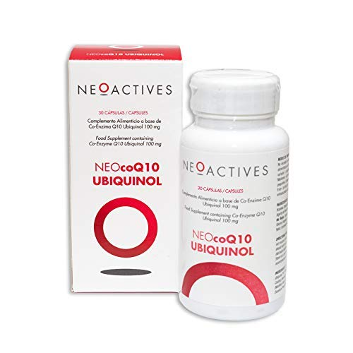 NEOcoQ10 UBIQUINOL Suplemento con 100 mg de coenzima Q10 reducida (ubiquinol) Uno de los productos más concentrados enfocado a prevenir los efectos del proceso de envejecimiento - 30 Capsulas