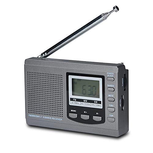 Songway Full Band AM/FM/SW DSP Radio Stereo Loudspeaker LCD Display Alarm...