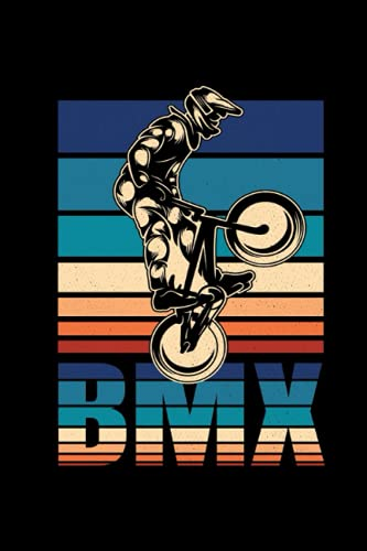 BMX Radfahrer Notizbuch: BMX Radfahrer Bike Fahrrad Notizbuch für Biker Jungs - 120 linierte Seiten für Termine, Notizen oder als Tagebuch   ca. DINA5   Geschenk Idee für Fahrrad Fahrer