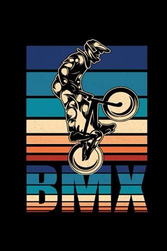 BMX Ciclisti Bici Taccuino: BMX Ciclisti Bici Taccuino per ragazzi - Bicicletta Quaderno - 120 pagine a righe per note, appuntamenti o come diario | ca. DINA5 | Regalo divertente
