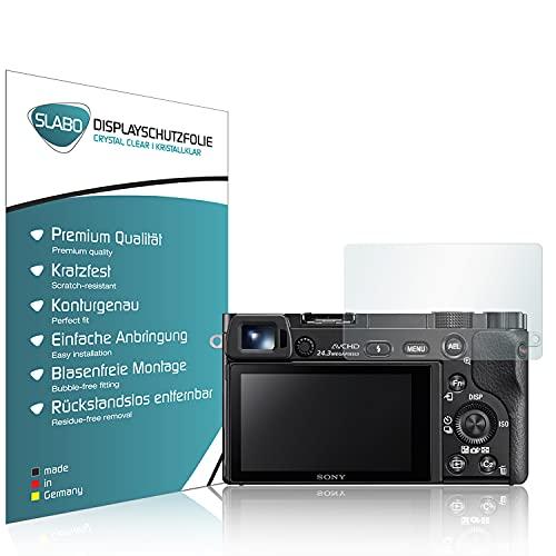 Slabo 4 x Pellicola Protettiva per Display per Sony Alpha 6000 | Alpha 6300 | Alpha 6500 Protezione Display Crystal Clear