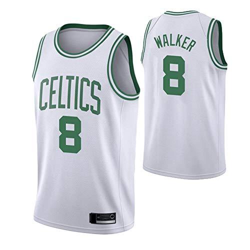 Jerseys De Baloncesto para Hombre - NBA Boston Celtics # 8 Kemba Walker Jersey - Camiseta Sin Mangas De Mesh Transpirable Fans Edition,Blanco,S(165~170cm)