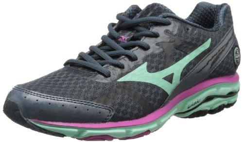 Mizuno Women's Wave Rider 17 Running Shoe,Dark Slate,10.5 B US
