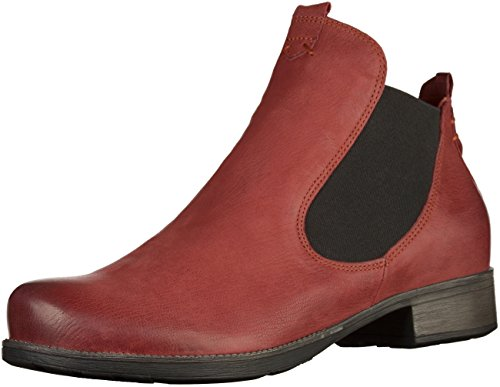 Think! Damen Denk_181011 Chelsea Boots, Rot (Vino 36), 37 EU
