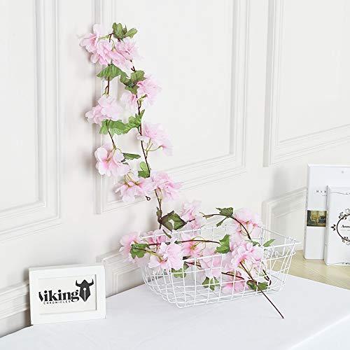 WSLDDD Simulation Rattan Hochzeit Dekoration Blume Rebe Klimaanlage Rohr Wicklung Gefälschte Blume Nach Hause Rattan Hellrosa