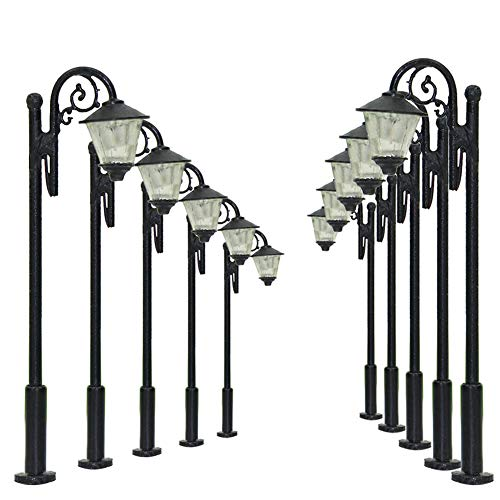 LYM36 10pcs Model Railway Train Lamp Post Street Lights TT N Scale LEDs New