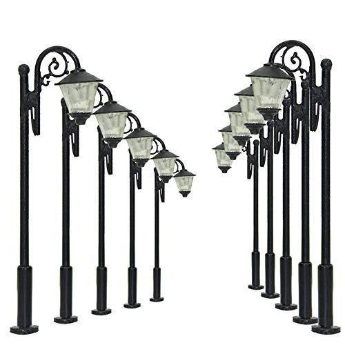LYM36 10pcs Model Railway Train Lamp Post Street Lights 5.2cm 2.05inch TT N Scale LEDs New Idaho