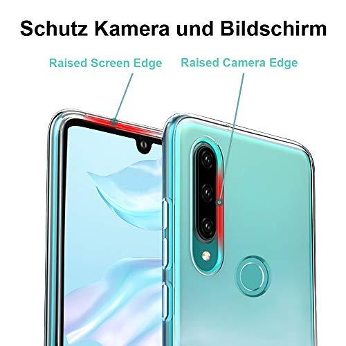 Ylife Hülle Kompatibel Huawei P30 Lite, Ultra Dünn Transparent Weiche Silikon TPU Handyhülle, Anti-Gelb Crystal Clear Silikonhülle, Anti-Scratch Schutzhülle, Durchsichtige Case Cover - Klar - 3