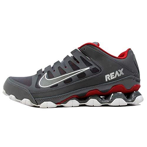 Nike Mens Reax 8 Training Shoe Mesh Dark Grey/Dark Grey-Gym Red Size 11.5