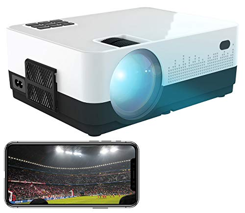 SceneLights Projektor: LED-LCD-Beamer mit WLAN, Mediaplayer, 1280 x 720 (HD), 2.000 lm, 12 W (Beamer Wireless)