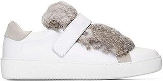 Luxury Fashion | Moncler Women 2016000019S9004 White Leather Slip On Sneakers | Season Outlet