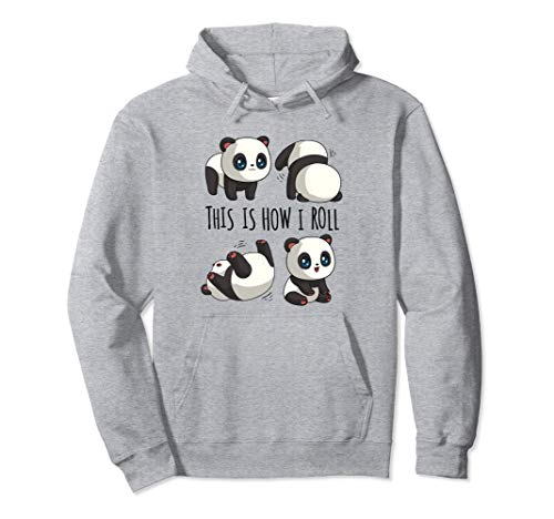 Chibi Cute Panda For Girls Little Bear Panda Gifts Panda Pullover Hoodie