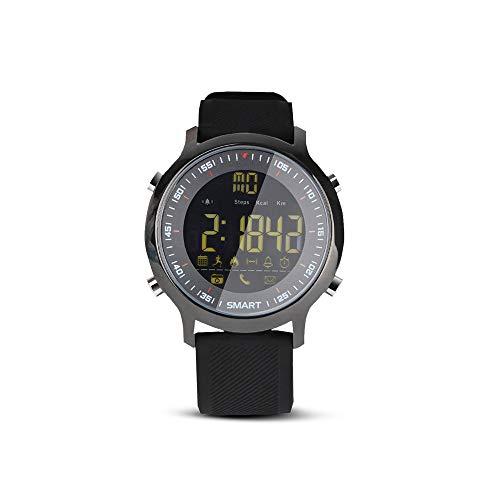 Redlemon Smartwatch Reloj Inteligente Sport Bluetooth con Pantalla Digital, Resistente al Agua, Notificaciones de Llamadas, Redes Sociales y Mensajes, Función Deportiva, Compatible con IOS y Android. Negro
