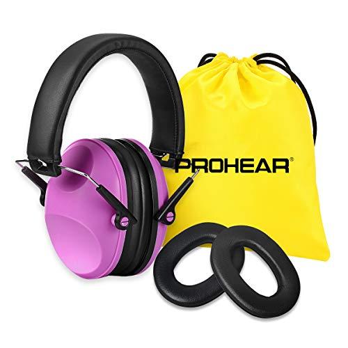 PROHEAR 032P Gehörschutz Kinder mit SNR 29dB Hörschutz, Faltbar Komfortabel Lärmschutz Kopfhörer Kinder Jugendliche für Konzert Feste Schule von 1 bis 18 Jahre (Rosa)