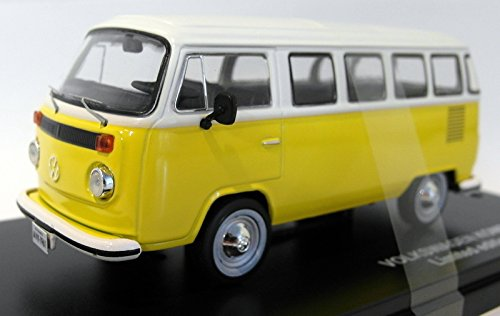 VW T2 Bus, gelb/weiss, 1976, Modellauto, Fertigmodell, Triple 9 Collection 1:43