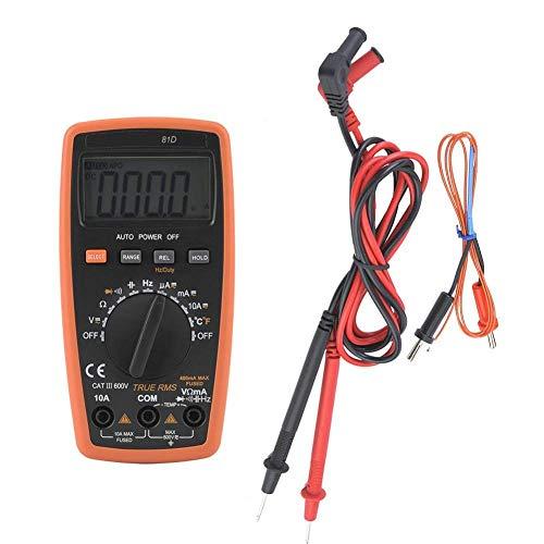 Busirsiz Multímetro electrónico digital, 81D Multímetros electrónicos digitales profesionales, Probador de corriente de voltaje de resistencia herramientas industriales