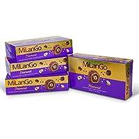 4-Pack Milango Diamond Fine Hazelnut Milk Chocolate