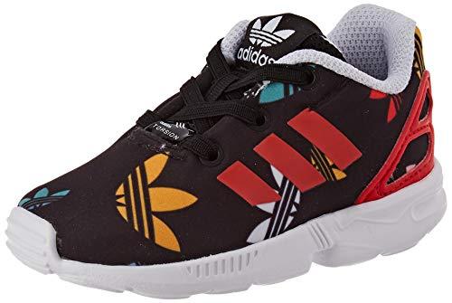 adidas ZX Flux El I, Scarpe da Ginnastica Unisex-Bambini, Core Black/Lush Red/Ftwr White, 24 EU
