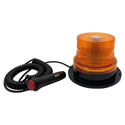 Hawkeye 12/24V LED Rundumleuchte Blinkende Warnleuchten Bernsteinfarbene Notbeleuchtung für PKW LKW Caravan Traktor Notfall Baufahrzeug Landwirtschaftsmaschinen