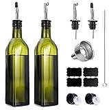 Botella de Aceite de Oliva 250ml,Botella Aceite y Vinagre con Vertedores...